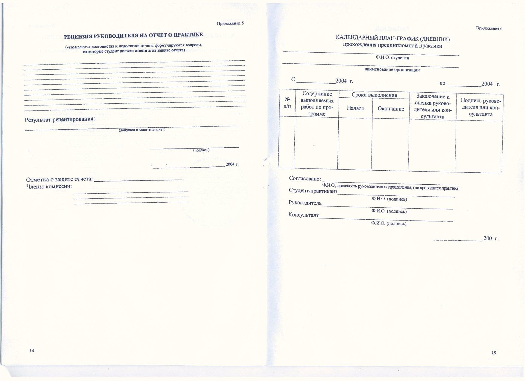 Документы по преддипломной практике МИГКУ ИТ вс Форма рецензии руководителя дневник практики